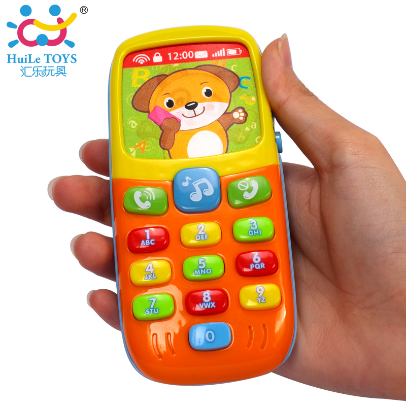 Baby Mobile Phone Toys Early Education Learning Machine Bear Panda
