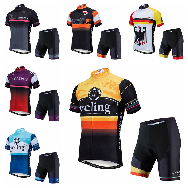 Pro Team Cycling Jersey Set 2020 Maillot Ropa Ciclismo MTB Bicycle Cycle Clothing Short Sleeve Bike Clothes Gel Shorts Motocross|Cycling Sets| |  - title=