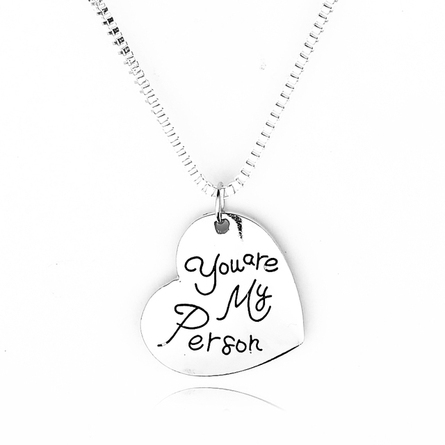 Us 2 45 Engraved Grey Anatomy Necklace Hot Sales Letter You Are My Person Pendant Necklace Bff Gifts In Chain Necklaces From Jewelry Accessories