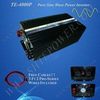 48 В DC 220 В AC солнечный инвертор, 220 В 230 В 50 Гц 60 Гц инвертор, чистый синус 4000 Вт инвертор 12 В/24 В/48 В