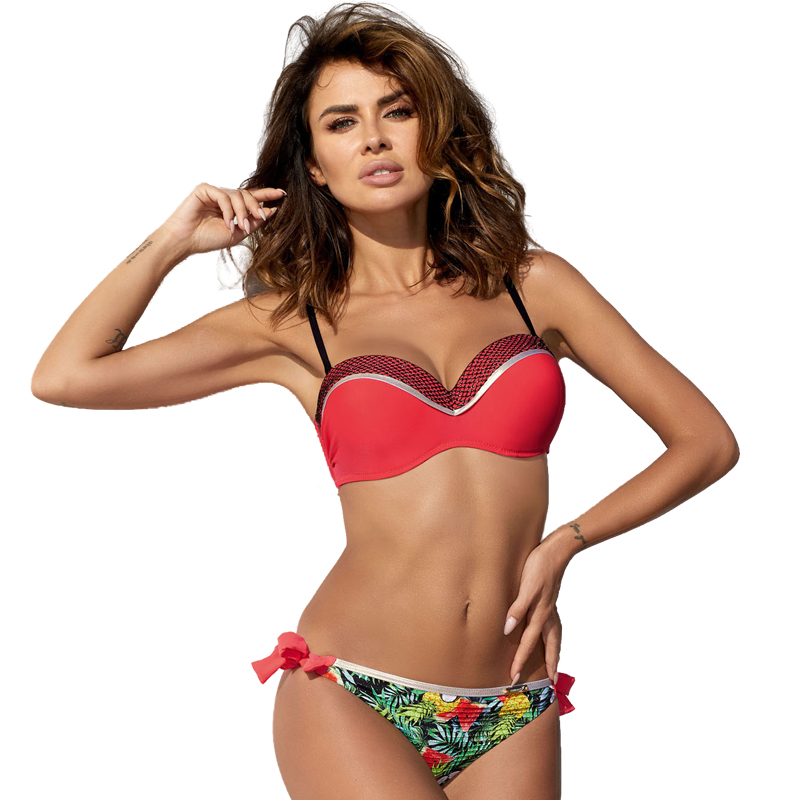 swimwear new pure color sexy split swim suit foreign trade bikinis wear swimsuit women thong bikini 2019