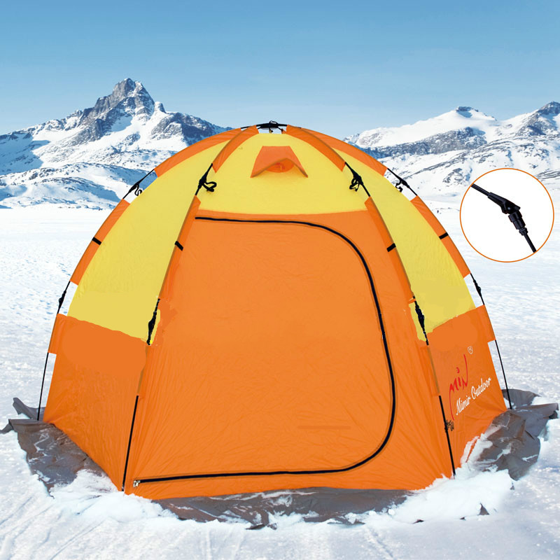 Mimir cold warm winter fishing tent 3 4 automatic ice for Ice fishing tents
