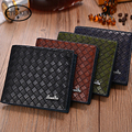 Walletsmoney clip New Multifunction Mens Leather Business Wallet Card Holder Pocket Purse Hot Splice Plaid Pouch Fashion ZC057