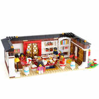 46001 Creative Toys compatible With 80101 Chinese New Years Eve Dinner Set Building Blocks Bricks Chinese Architecture Kid toys
