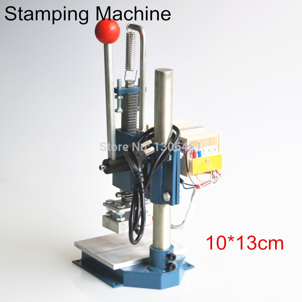 1 Satz Manueller heißfolienprägen maschine prägefolienstampfer drucker leder prägemaschine (10X13 cm) 220 V/110 V