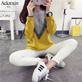 New Women's Long Sleeve Sweaters and Pullovers Loose O-neck Knit Mohair Sweater Bottoming Thick Warm Sweater Female Sueter Mujer
