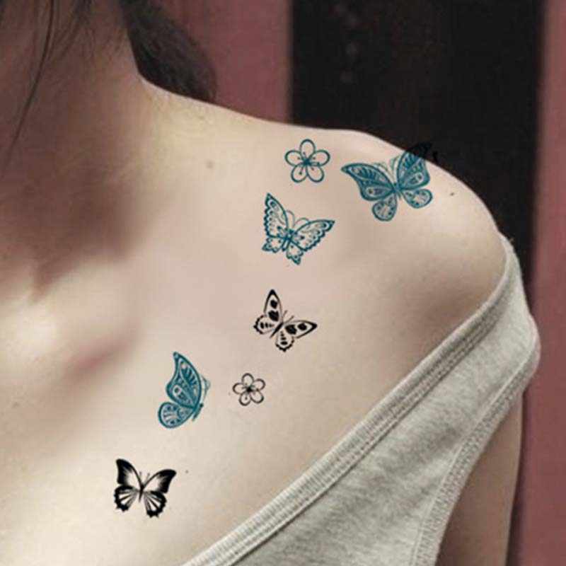 Cute Butterfly Star Cat Temporary Tattoo Women Waterproof Body Arm Leg Tattoo Stickers Small Size Tatto For Girls And Boys Buy At The Price Of 1 00 In Aliexpress Com Imall Com