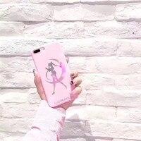 Laser Sailor Moon Soft Siliconen Roze Mobiele Telefoon Case Voor iPhone8 8 Plus Plastic Beschermende Shell Coque Funda Cartoon Terug Cover