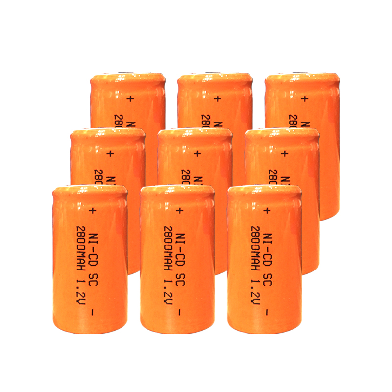 10Pcs OOLAPR 2800mah Sub C SC 4/5sc 1.2V Nicd Rechargeable Battery Flat Top With Tabs For Shaves And Emergency Lighting Radios