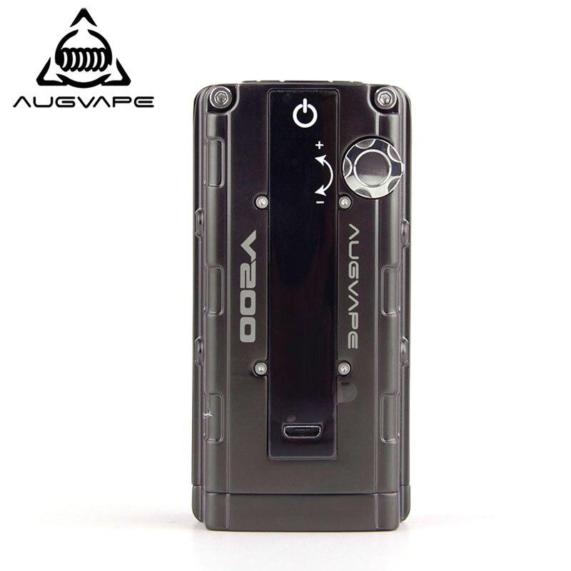 Augvape V200 200 w Cigarette Électronique Mod Gun couleur métallique Bypass Automatique V mode led affichage 510 Connecteur Mod Boîte