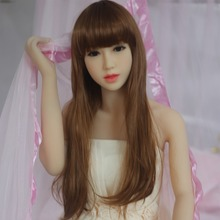 2016 153cm Top Quality Full Size Silicone Sex Doll For Men,realistic Love Adult Toys Artificial Vagina Pussy Wedding dress