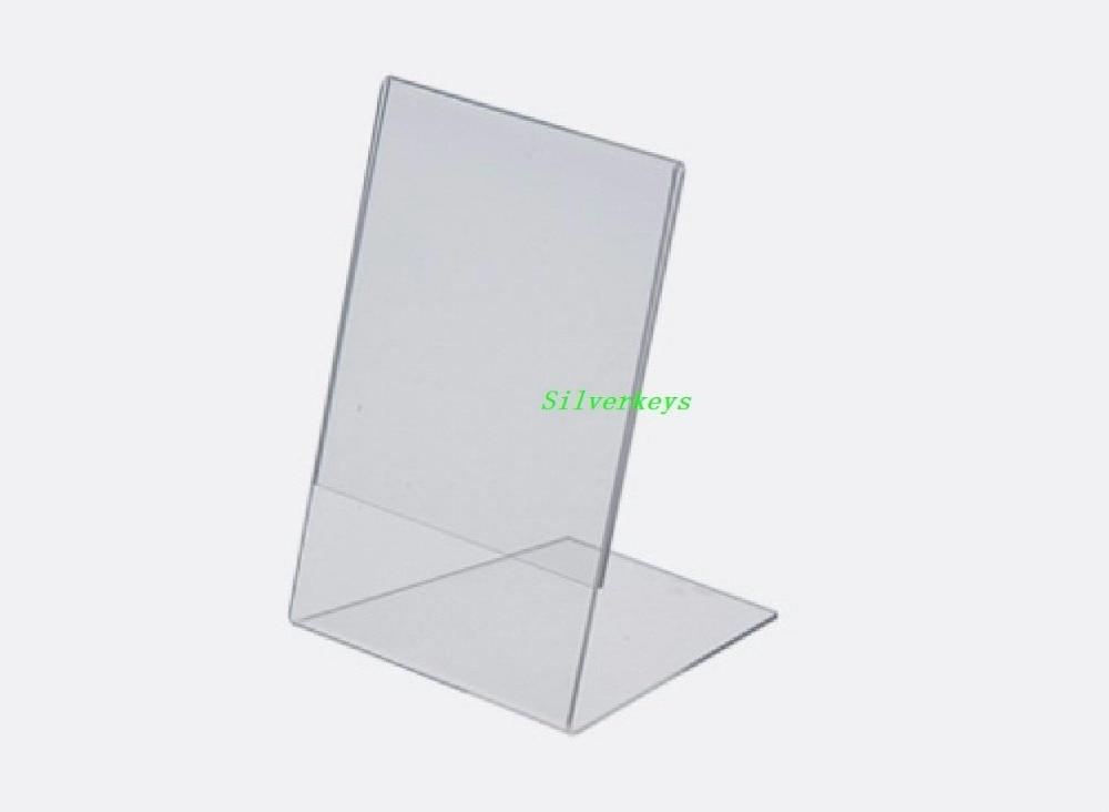 Desktop Cheap Acrylic Letter L Shape Clear Acrylic Block Photo Frame ...