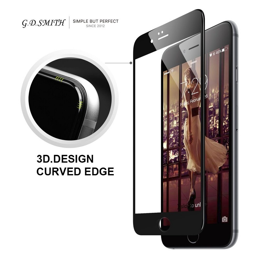 G D SMITH Full Cover 3D Tempered Glass for Iphone 6s Plus Screen Protector for iPhone