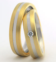 custom made yellow yellow gold colour health titanium biccolor wedding bands rings set for men and women