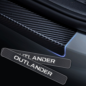 Image 4 - Стайлинг автомобиля 4D стикер из углеродного волокна, защита для порога автомобиля, Накладка на порог для Mitsubishi OUTLANDER, автомобильные аксессуары
