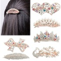 Chic Vogue Women Girls Crystal Full Drill Barrette Heart Peacock Hairpin Hairclips Hairgrips Hair Clip Headwear Accessories