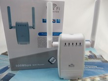 Newest 300Mbps WiFi Range Extender Repeater Signal Booster 2x Antenna_EU
