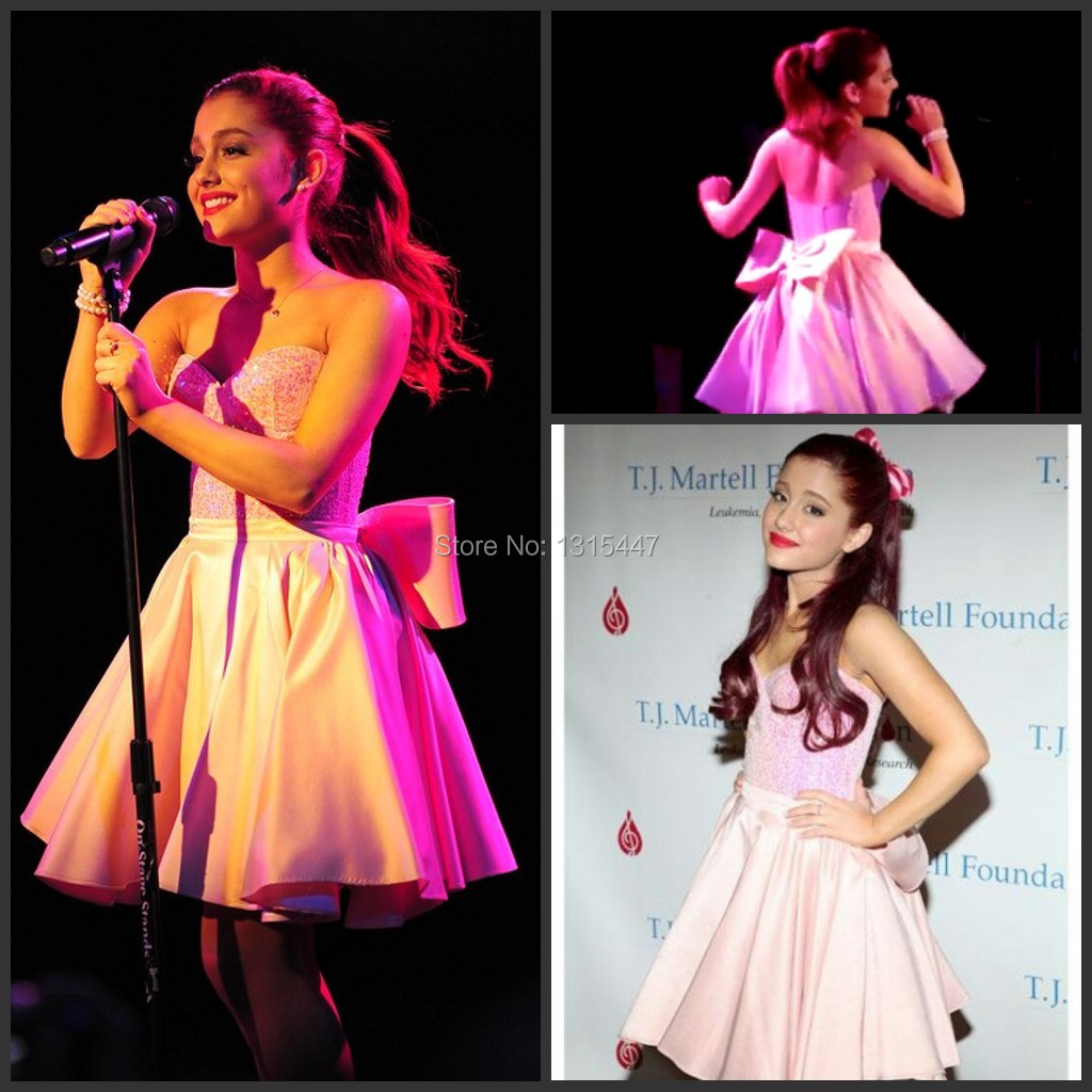 Online buy wholesale ariana grande pink dresses from china for Ariana grande wedding dress