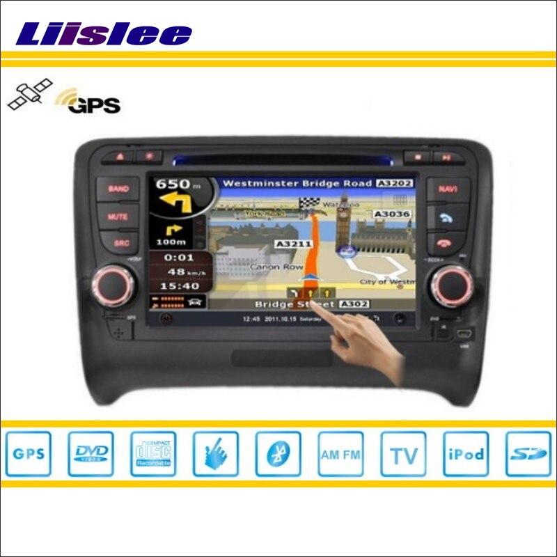Liislee voiture Android multimédia pour Audi TT/TTS 2006 ~ 2013 Radio lecteur CD DVD GPS Navi carte Navigation Audio vidéo système stéréo