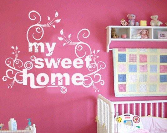 sweet home wallpaper designs. My sweet home PVC house living room bedroom wall sticker decal  wallpaper covering glass in Wall Stickers from Home Garden on Aliexpress com