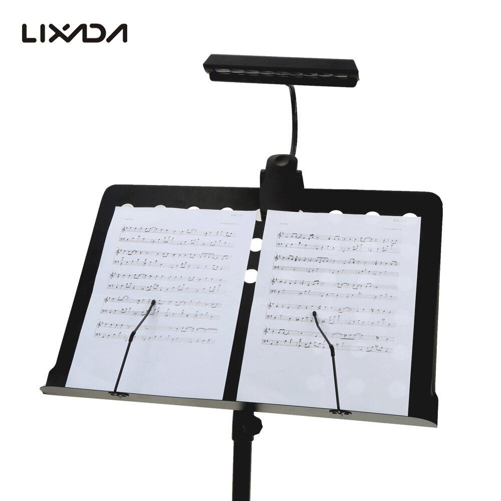 Tragbare Flexible Biegsamen 9 LEDs Orchester Klavier Musik Punktzahl Licht Stehen Clip Schreibtisch Lese Lampe Helle Clamp LED Schreibtisch Lampe
