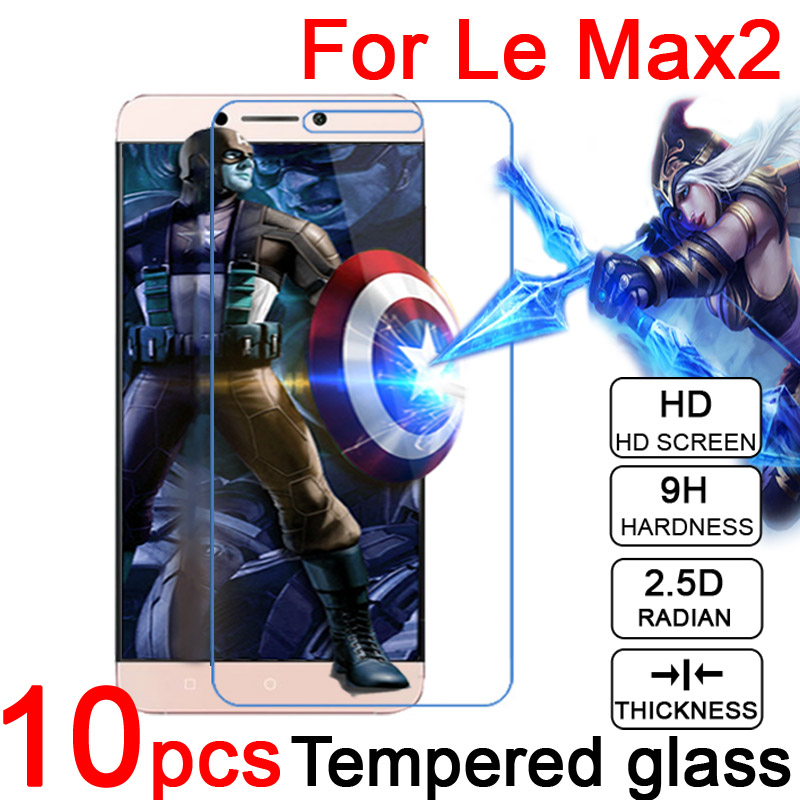 10pcs 2.5D 9H LCD Tempered Glass Screen Protector Cover for LeEco Letv Le MaxMax2 X900 X820 Cool1 Scratch proof Protective Film