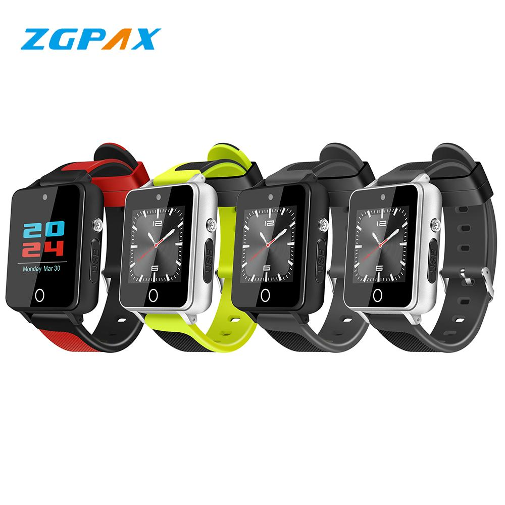 ZGPAX S9 3G Smart Watch Android 5 1 Watch Phone 1 54 inch RAM 1G+ROM 16G  WiFi GPS SIM MTK6580 Quad Core BT 4 0 Fitness Tracker