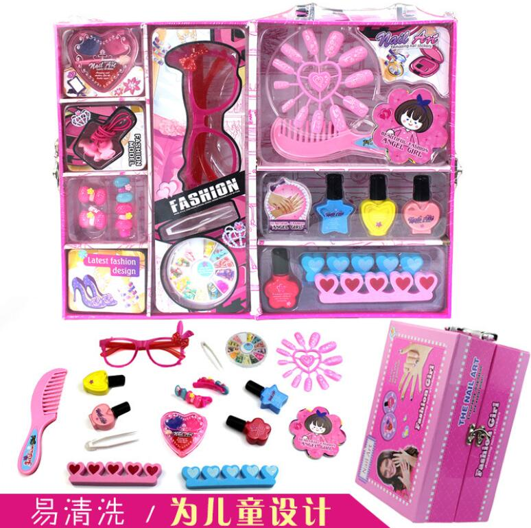 Kids Hair Salon Kits Girl Pretend Play Hairdressing Simulation Toy for Toddler