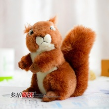 Emulation Red Squirrel Cute Soft Stuffed Animals Plush Toy Artificial Animal Doll Collection Birthday Gift