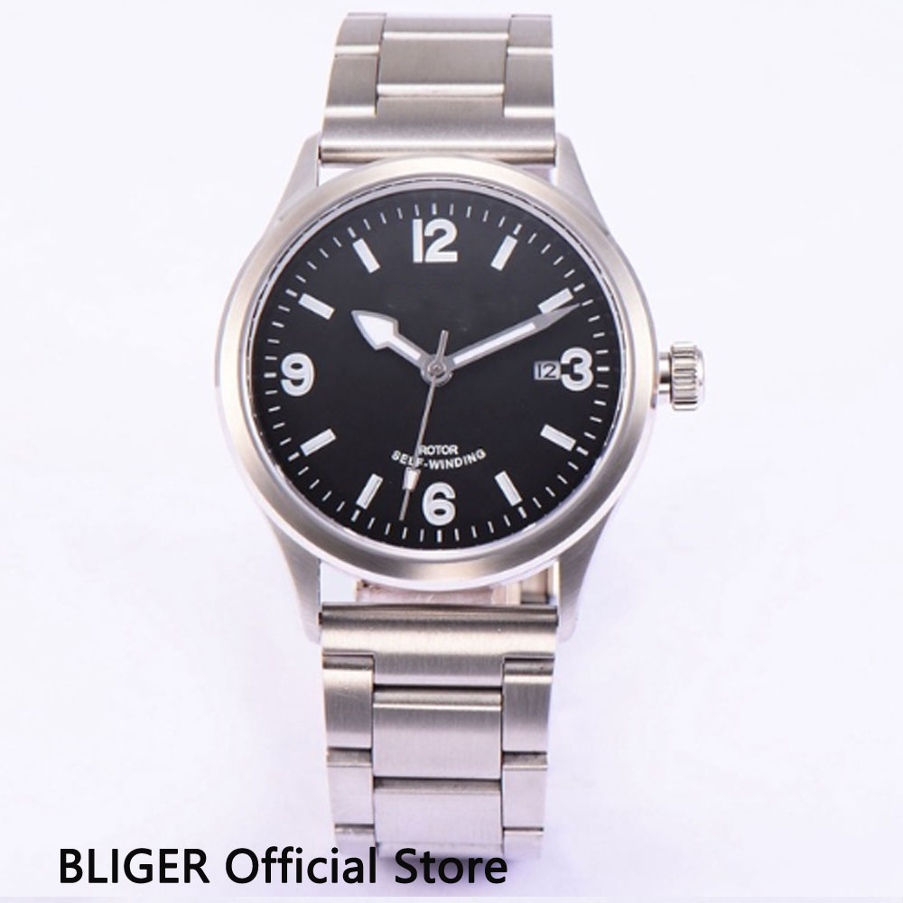 41MM Black Sterile Dial Mechanical Mens Watches Auto Date MIYOTA 8215 Automatic Movement Stainless Steel Watch Band41MM Black Sterile Dial Mechanical Mens Watches Auto Date MIYOTA 8215 Automatic Movement Stainless Steel Watch Band