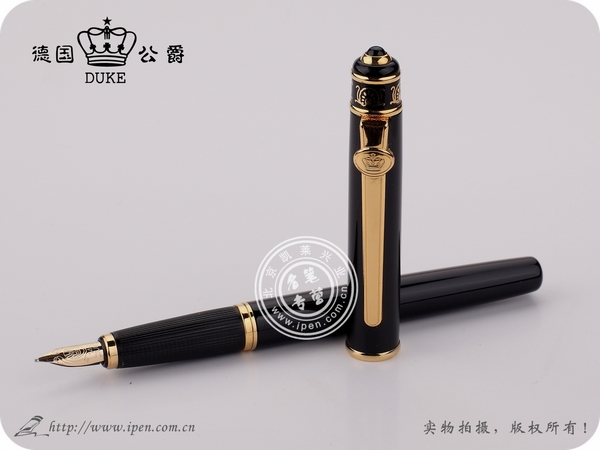 Duke 8K fountain pens ink pen fountain pen Classic luxury noble gift golden black FREE shipping стоимость