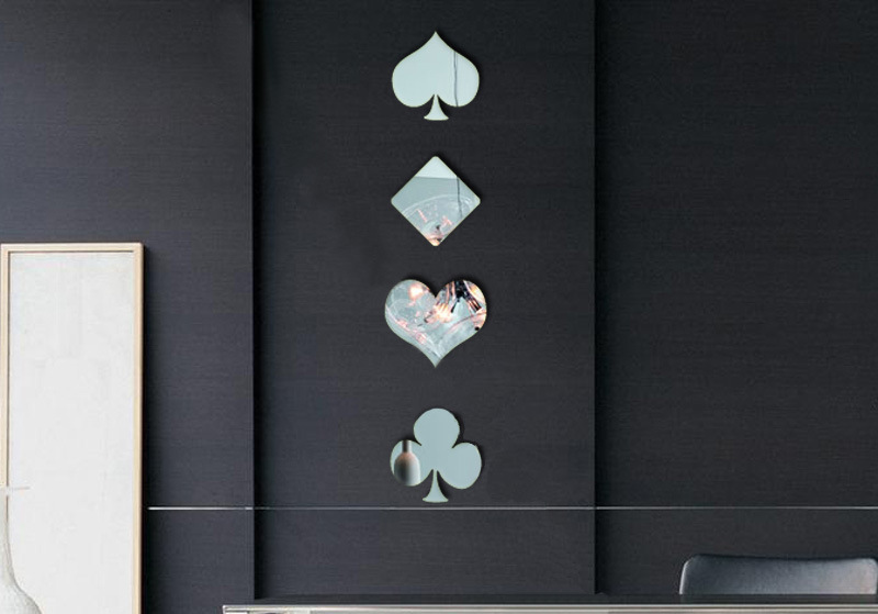 Creative Home Decoration 3d Mirror Sticks Livingroom Bathroom Poker Background Wall Sticks Hot Selling(China)