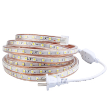 Zuczug Led Strip 220V Waterproof 5050 Ledstrip Volt 5M 10M 20M Warm White 220 V Outdoor