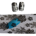 100 cm x 4 cm Black Lace Flor Adesivo Polonês Frustra Transferência Etiqueta Do Prego Design de Unhas Arte Manicure Envoltório Decoração ferramentas STZXK12