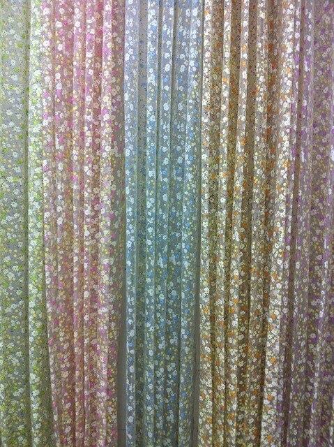Cs 137 Hot Le Window Screens Tulle Bronzing Flower Door Curtain Fabric Panel Sheer Scarfs Office