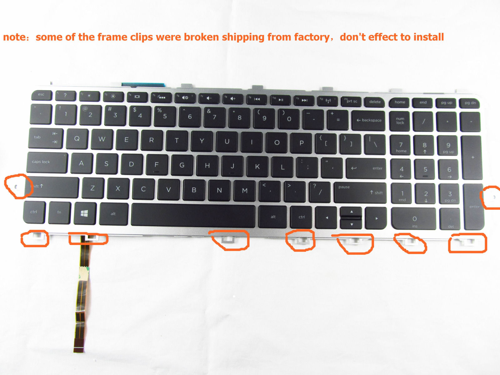 NEW For HP Envy m7-j100 m7-j120dx m7-j178ca US Keyboard Frame Backlit Accessory new for hp envy touchsmart us keyboard with backlit frame compatible v140626ds1 v140626a 760743 001 6037b0100201 97 00076 us 0b