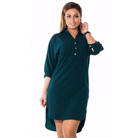Plus Size Summer Dress Women S Clothing 2017 Fashion Casual Loose Sexy V Neck Open Fork