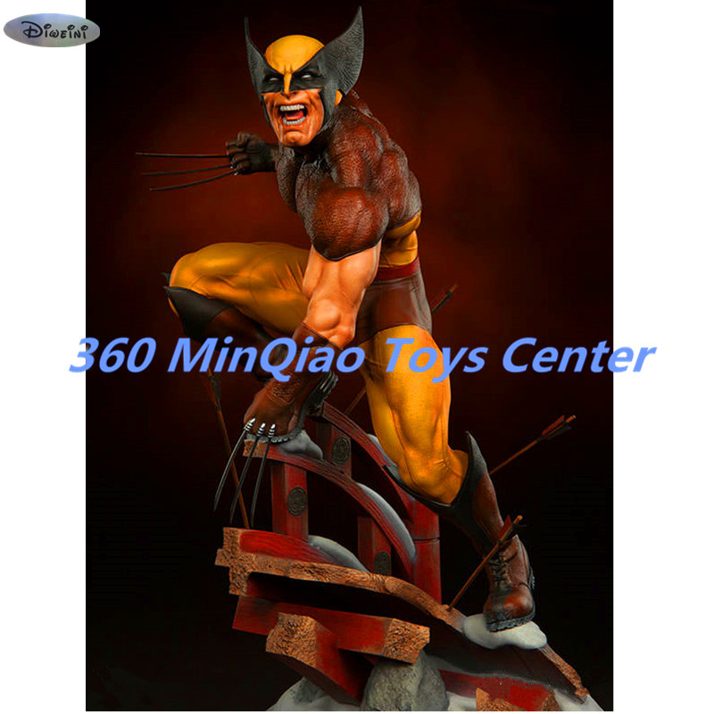 Marvel Statue X-Men Full-Length Portrait Wolverine Bust Brown Version Action Figure Collectible Model Toy 51 CM WU839 god of war statue kratos ye bust kratos war cyclops scene avatar bloody scenes of melee full length portrait model toy wu843