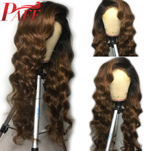 PAFF Loose Deep 13X6 Malaysia Remy Pre Plucked Lace Front Wig Ombre Lace Front Human Hair Wigs With Baby Hair For Women