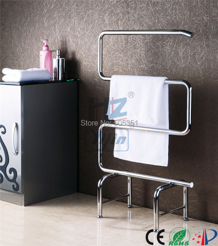 1pc Heated Towel Rail Holder Bathroom Accessories Towel: Free Standing Towel Warmer Electric Heated Towel Rail