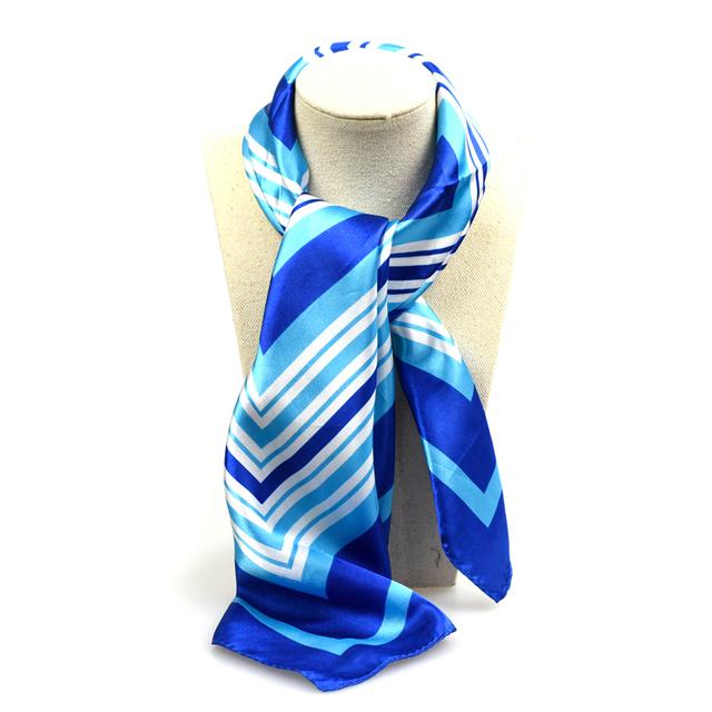 Luxury Striped Satin Scarf | Bandana Scarves