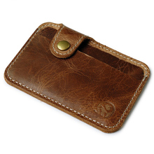 Wholesale Retro Leather Card Wallet Men Business Bank Card Holder Thin Credit Card Case Convenient Small Cards Pack Cash Pocket