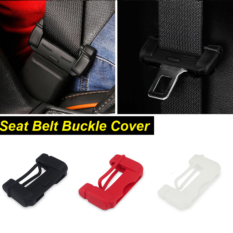 2x Car Seat Safety Belt Buckle Protector Cover For Peugeot 307 206 308 407 207 3008 406 208 508 301 2008 408 5008