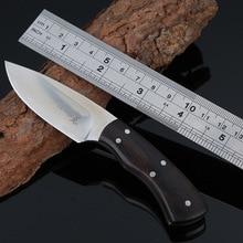 Black Ebony Hunting Knife Survival Knives Fixed Blade Sharp Small Straight Knife With Nylon Sheaths 1836#