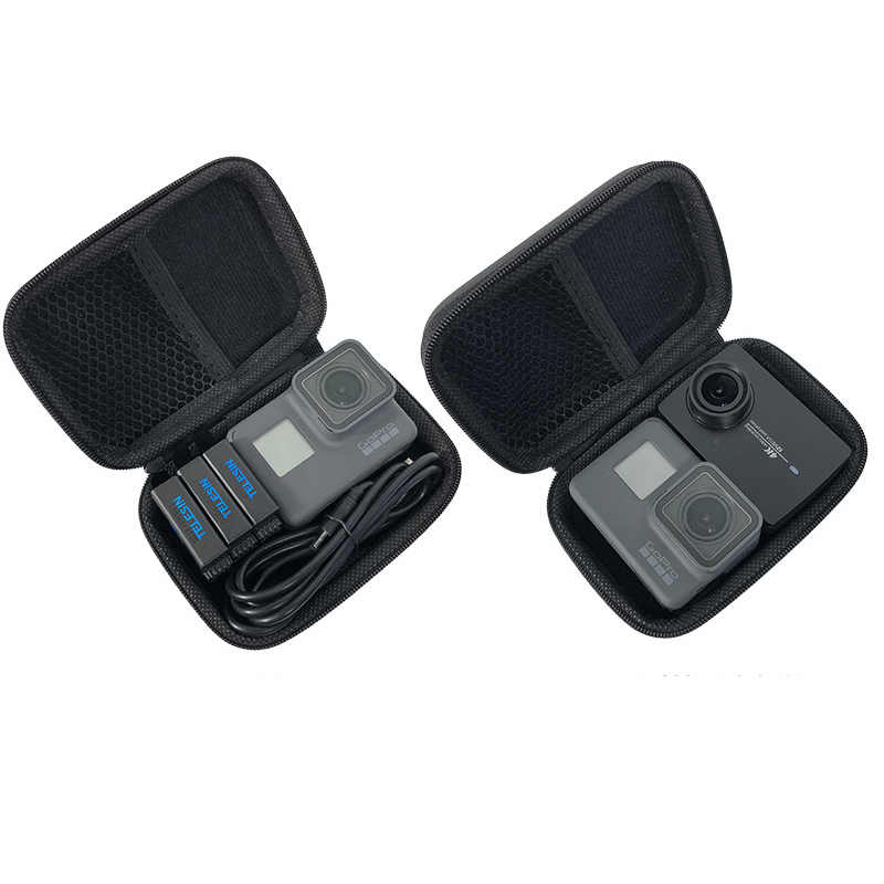 Portable Waterproof Mini Storage box Compact Shockproof Case For Gopro Hero 7 6 5 4 3+ SJCAM Xiaomi Yi 4K MIJIA Action Camera