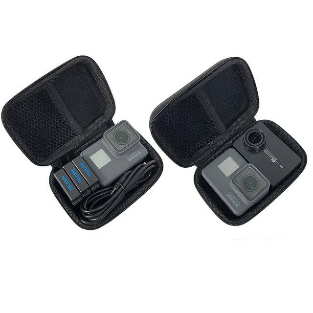 المحمولة مقاوم للماء صندوق تخزين صغير المدمجة للصدمات الحال بالنسبة Gopro بطل 8 7 6 4 3 SJCAM شاومي يي 4K MIJIA عمل الكاميرا