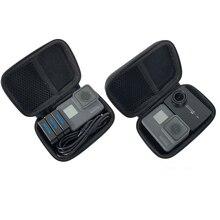 Mini caixa de armazenamento compacta à prova de choque, portátil, para gopro hero 8 7 6 4 3 + sjcam xiaomi yi câmera de ação 4k mijia