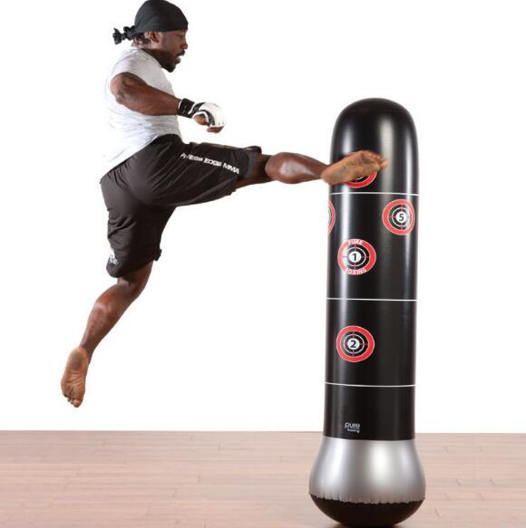 160cm Boxing Punching Bag Inflatable Free Stand Tumbler
