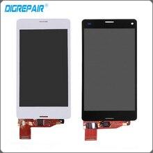 "4.5 ""blanco Negro Para Sony Xperia Z3 Mini Compacto D5803 D5833 Pantalla LCD Táctil Digitalizador Asamblea Envío Libre + Track No."