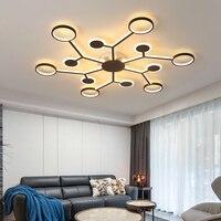 Lustre de led moderno para iluminação  decoração para sala de estar  quarto  sala de jantar  sala de estudo  teto remoto